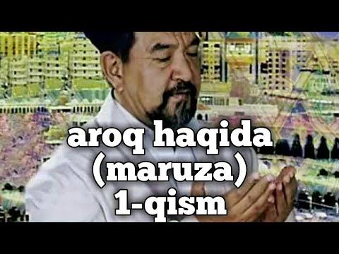 FOZIL QORI AROQ HAQIDA 1-qism FOYDALI MARUZA