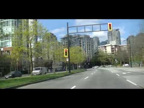 DOWNTOWN VANCOUVER CANADA - British Columbia (BC) Sightseeing Drive - Jazz BGM