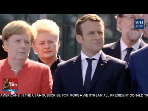 President Donald Trump SLAMS Countries for Not Paying Enough In NATO Defense at NATO Ceremony!!