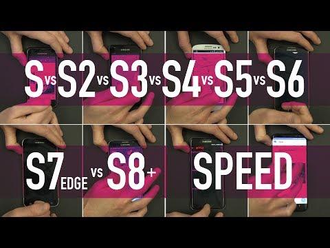 Samsung Galaxy S vs S2 vs S3 vs S4 vs S5 vs S6 vs S7 Edge vs S8+ / PART 1 - Speed Test
