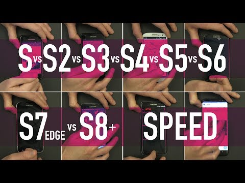 Samsung Galaxy S vs S2 vs S3 vs S4 vs S5 vs S6 vs S7 Edge vs S8+ / PART 1 - Speed Test