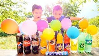 SODAS + MENTOS + BALLONS = EXPERIENCE !