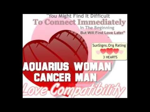 Cancer man hookup an aquarius woman