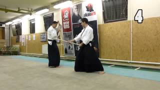 13 JO KATA PARTNER PRACTISE  [TUTORIAL] advanced Aikido weapon technique