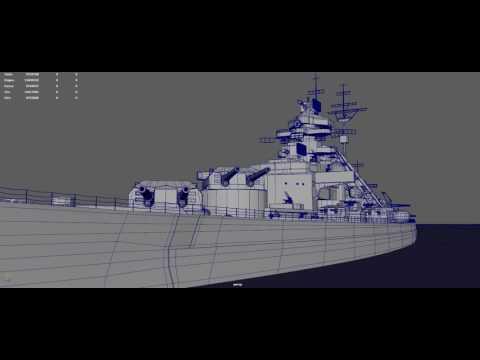 DKM Bismarck Test Animate version.01