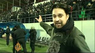 Football superstars play in Grozny