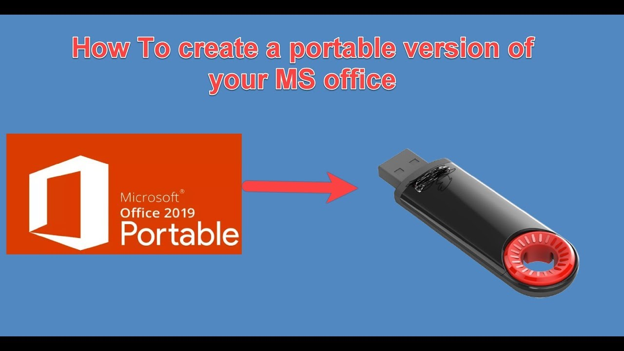 How To Create A Portable Usb Version Of Microsoft Office Youtube