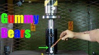 Transforming Gummy Bears to Giant Gummy Worm with Hydraulic Press