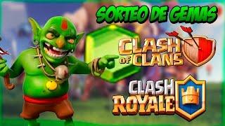 SORTEO DE GEMAS PARA CLASH OF CLANS Y CLASH ROYALE