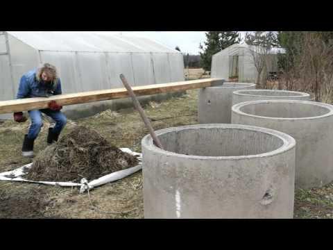 Как перевернуть метровое бетонное кольцо для канализации либо колодца!!!