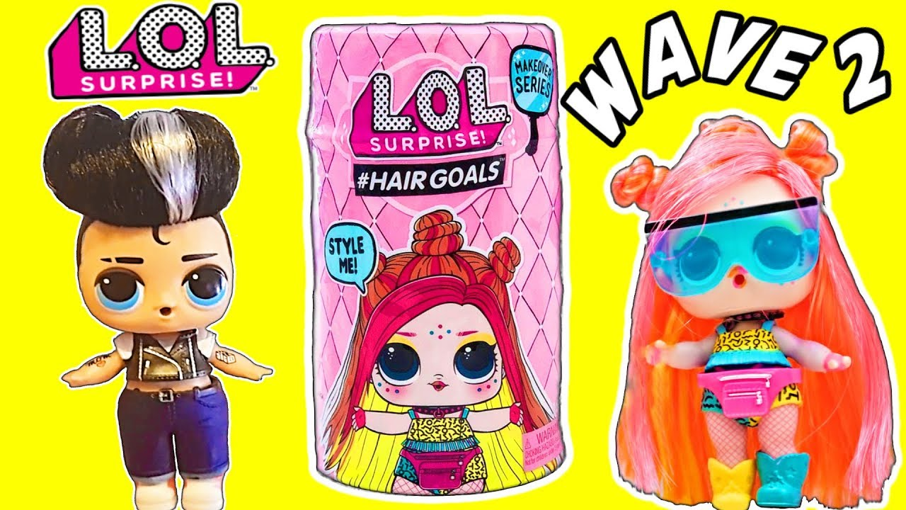 Lol Surprise Wave 2 Hairgoals Lol Dolls First Look Giant Lol Surprise Mystery Box Lol Doll Video Youtube