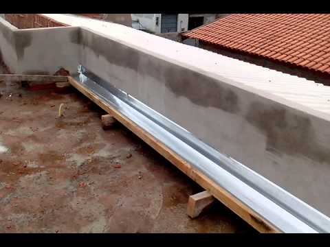 Colocando calha ,telhado embutido - YouTube
