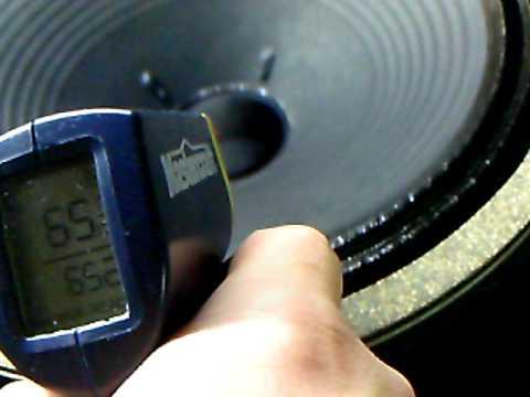 Prt 2 - CELESTION G12H 30 @ 60hz guitar speaker BREAK IN - ( Temp / dB test)