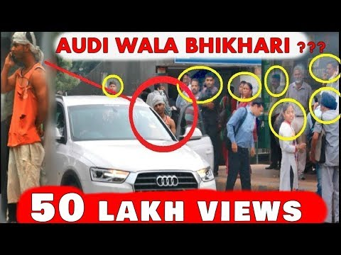 RICHEST BEGGAR With AUDI (Prank In India) Awesome Reactions | Pranks In India