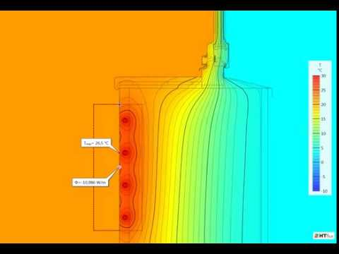 Wall heating system - dynamic thermal simulation - temperature view