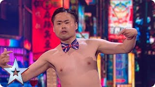 Brace yourselves - Mr Uekusa's act is about to get even more BONKERS! | Semi-Finals | BGT 2018
