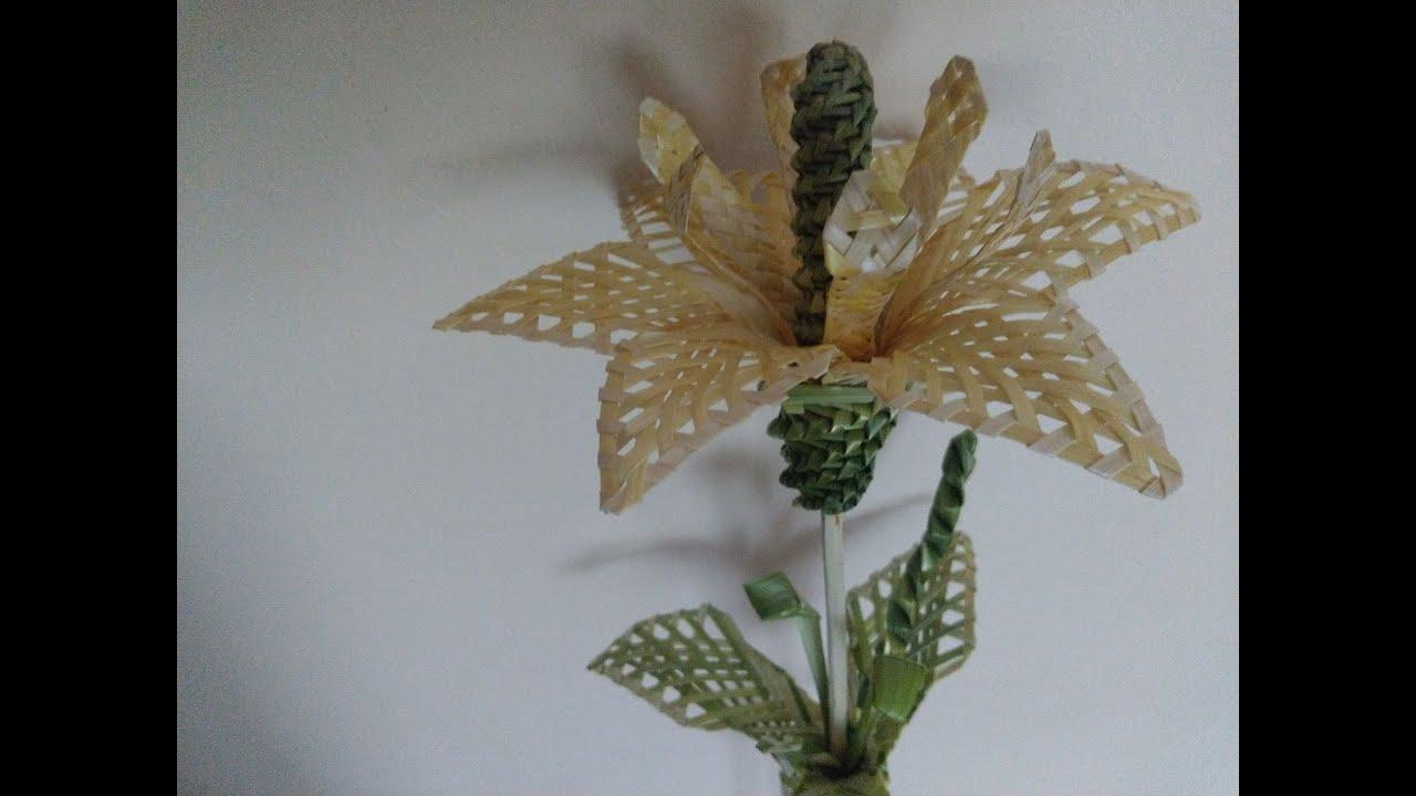 Jak Zrobic Kwiaty Ze Slomy Tutorial Eco Flowers Cvety Iz Solomy Youtube