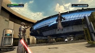 Star Wars the Force Unleashed - Lord Starkiller vs Boba Fett, Obi Wan Kenobi & Obi Wan