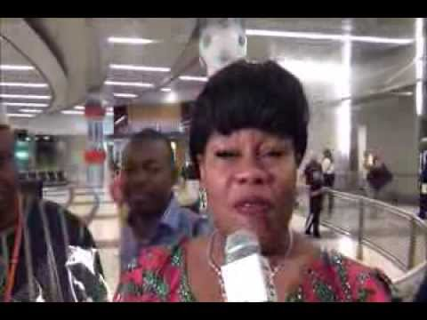 THE ARRIVAL OF DR. MRS. NGOZI OLEJEME TO HOUSTON, TEXAS FOR AMAZON INTERNATIONAL 2013 WOMEN SUMMIT
