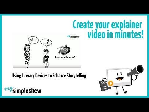using literary devices to enhance storytelling mysimpleshow youtube