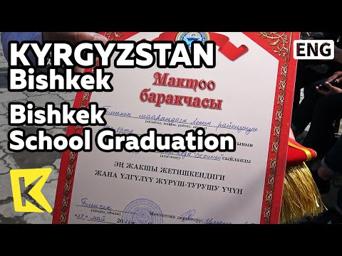 【K】Kyrgyzstan Travel-Bishkek[키르기스스탄 여행-비슈케크]한 날 동시에 진행되는 졸업식/School/Graduation