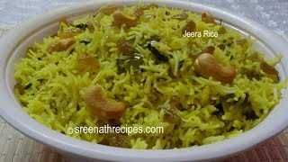 Jeera Rice - Flavoured Cumin Rice - Fried Jeera Rice Recipe