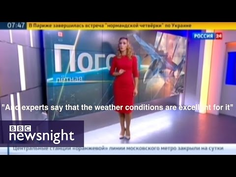 Russian Tweeters lampoon bombing weather forecast - Newsnight