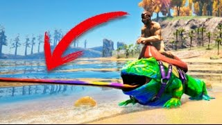 RANA TOXICA CON LENGUA DE COLORES !!! ARK SURVIVAL EVOLVED MODS Makigames