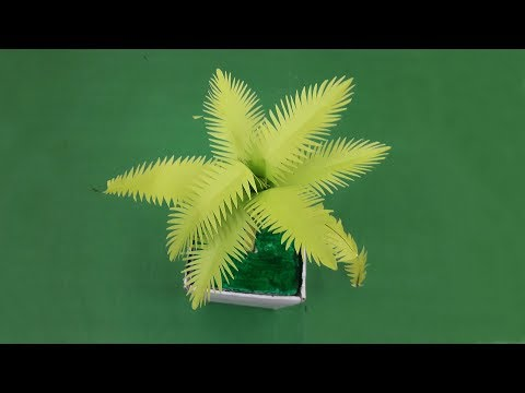 Paper Crafts   how to make paper leaf plant easily at home Easy   DIY Paper Tree