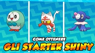 COME TROVARE LO STARTER SHINY IN SOLE E LUNA! - SOFT RESET/MASUDA METHOD/QR CODE