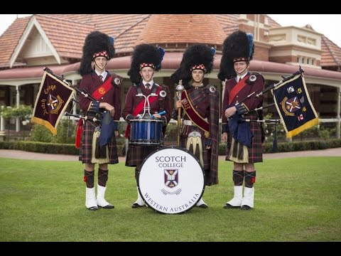 Pipe Band -  Scotch College - All Boys Private School Perth - Western Australia