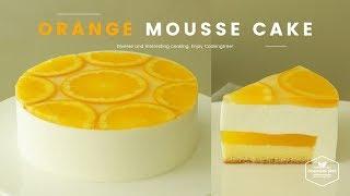 오렌지🍊무스케이크 만들기 : Orange mousse cake Recipe : オレンジムースケーキ -Cookingtree쿠킹트리