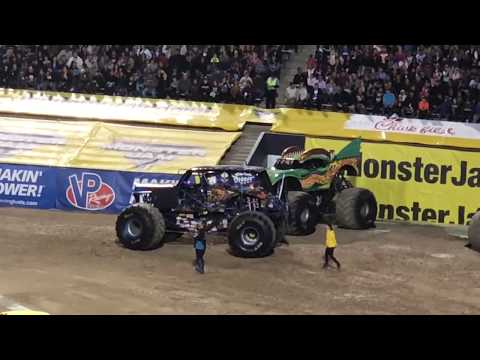 Monster jam El Paso March 3rd 2018 full racing,two wheel competition and freestyle