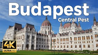 Budapest, Hungary Walking Tour Part 1 - Central Pest (4k Ultra HD 60fps)