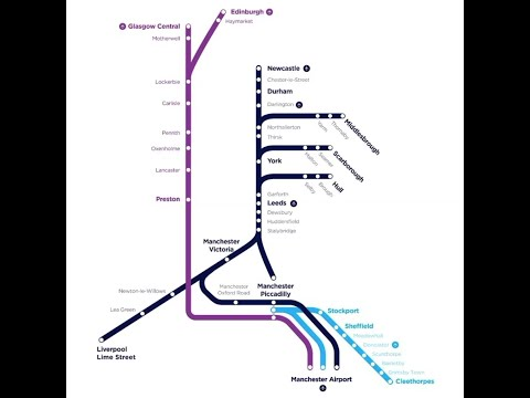 Transpennine Express Routes Newcastle To Manchester Airport