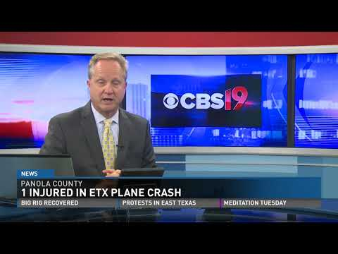 One Injured in East Texas Plane Crash in Panola County