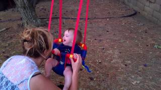 Brigitte On Outdoor Baby Swing
