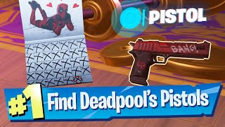 Find Deadpool's 2 Pistols Location - Fortnite Battle Royale