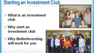 Starting a Stock Investment Club