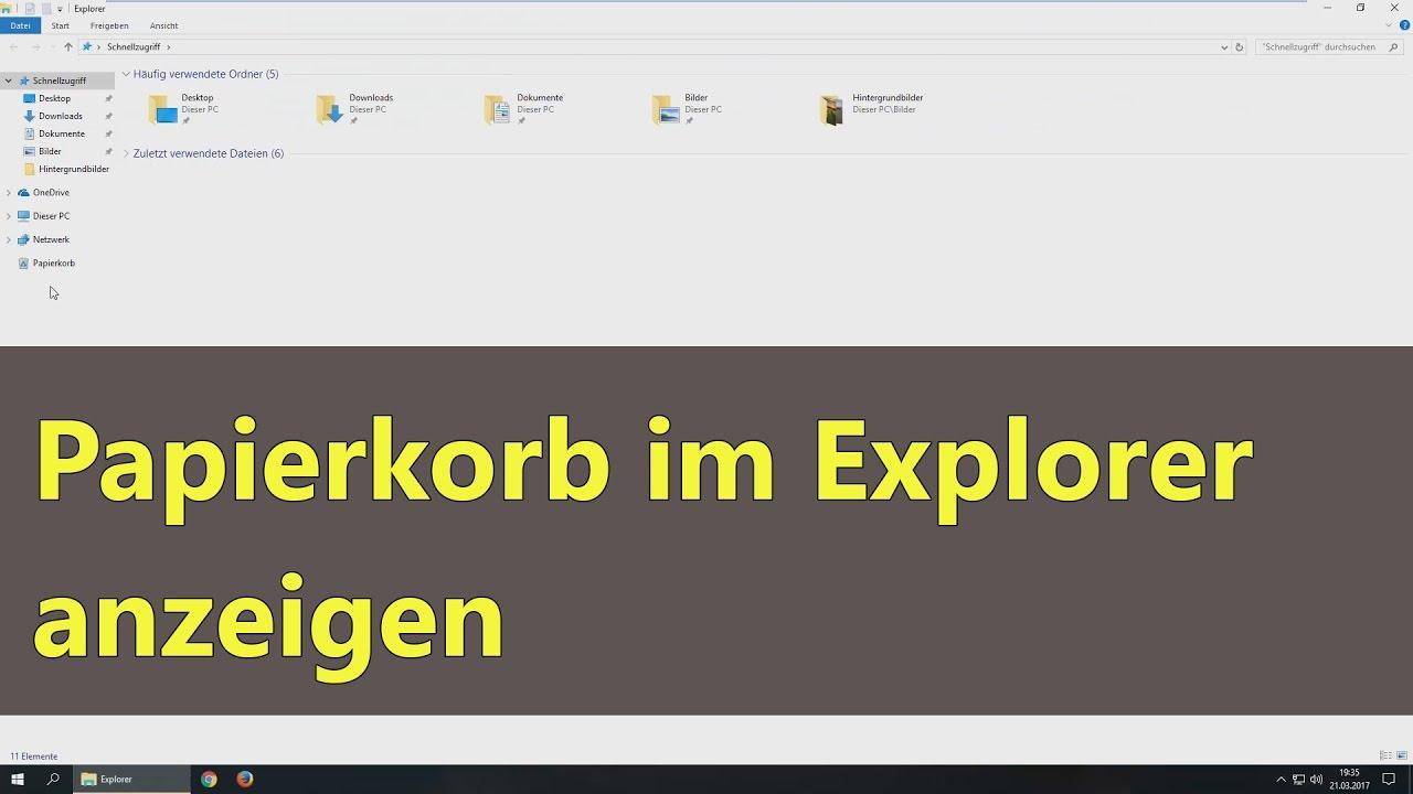 Papierkorb Windows 10