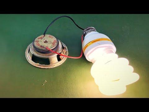 Electric Science Free Energy Using Speaker Magnet 100%