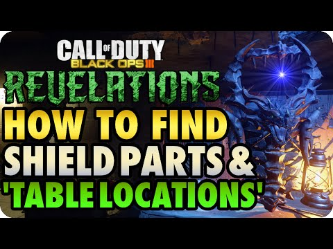BO3 Zombies Revelations How To Find ALL Shield Parts & Buildable Tables (Call of Duty: Black Ops 3)