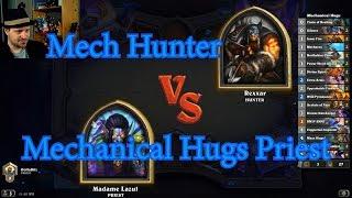 Mechanical Hugs Priest vs Mech Hunter | Hearthstone