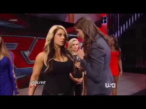 AJ Lee and Stephanie McMahon and  Kaitlyn Segment