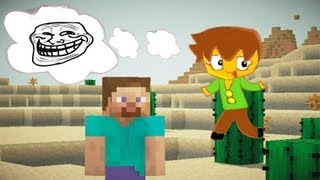 minecraft 5 funny ways to troll a noob