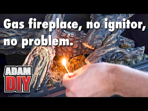 How To Light A Gas Fireplace Pilot With No Ignitor