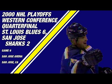 2000 NHL Western Conference Quarterfinal Game 6: St. Louis Blues 6, San Jose Sharks 2