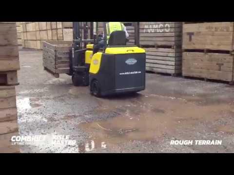 Empilhadeira Articulada - piso ruim (e corredor estreito)