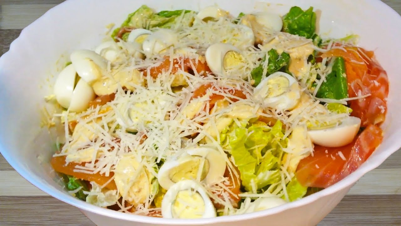 How to make Fish Caesar Salad #1