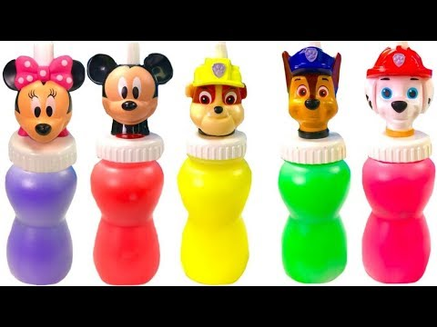 Best Learning Colors Video for Children -  Paw Patrol Mickey Mouse Slime Surprise Toys | Fizzy Fun